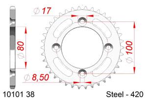 KIT STEEL HONDA CRF 110 2013-2018 Reinforced