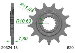 KIT STEEL HONDA CRF 250 RX 2019 Standard Xs-ring