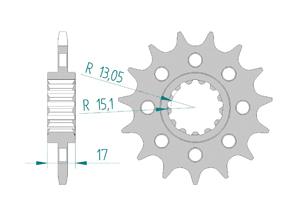 KIT ALU RAC HONDA CBR1000 RA/RR 17-18 #520 Hyper Reinforced Xs-ring