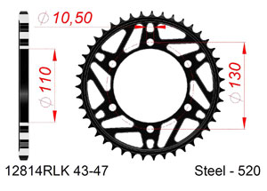 KIT STEEL YAMAHA R6 2006-2018 #520 Hyper Reinforced Xs-ring