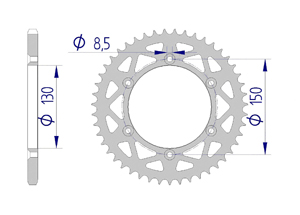 KIT ALU YAMAHA YZ 250 X / WR 2016-2017 Standard Xs-ring
