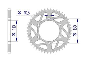 KIT ALU RAC YAMAHA MT-07 #520 2014-2018 Hyper Reinforced Xs-ring