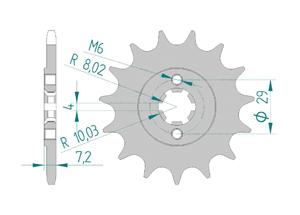 KIT STEEL SUZUKI RV 200 VANVAN 2016-2017 Standard Xs-ring