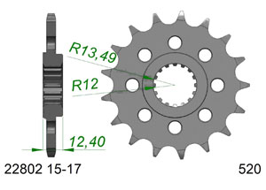 KIT STEEL SUZUKI GSXR 1000 #520 RAC 2017-2018 Hyper Reinforced Xs-ring