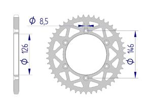 KIT ALU SUZUKI RMZ 250 2016-2018 Standard Xs-ring