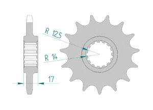 KIT STEEL DUC 1100 PANIGALE V4 2018 FOR PCD4 Hyper Reinforced Xs-ring