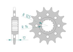 KIT STEEL DUC 1100 PAN V4 S 2018 #520 PCD4 Hyper Reinforced Xs-ring
