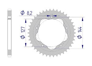 KIT ALU DUC 848 STREETFIGHTER 12-15 FOR PCD2 Hyper Reinforced Xs-ring