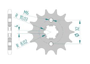 KIT STEEL FANTIC CAB 125 CASA MOTARD 2018 Reinforced Xs-ring