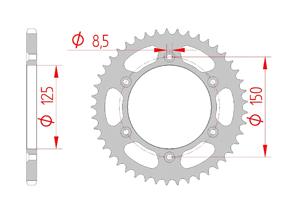 KIT STEEL KTM XC-W 125 2017-2019 Standard Xs-ring