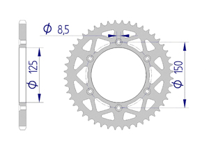 KIT ALU KTM XC-W 125 2017-2019 Standard Xs-ring