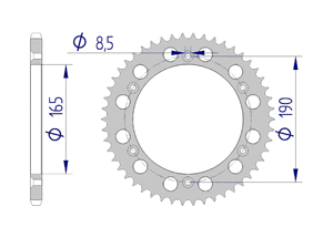 KIT ALU KTM GS 250 1986 Standard Xs-ring
