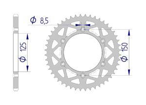 KIT ALU KTM XC 250 2015-2016 Reinforced plus Xs-ring