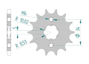 KIT STEEL RIEJU MARATHON 125 AC SM 2012-2016 Reinforced Xs-ring