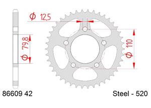 KIT STEEL TRIUMPH 900 SPEEDMASTER 2015-2017 Hyper Reinforced Xs-ring