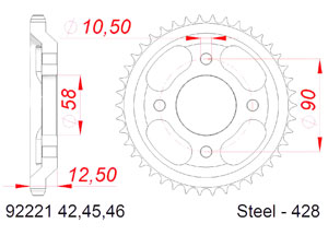 KIT STEEL ORCAL SPRINT 125 2018 Reinforced Xs-ring