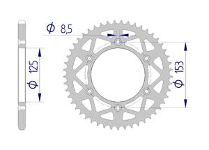 KIT ALU HM / HONDA CRM 250 2004 Standard Xs-ring