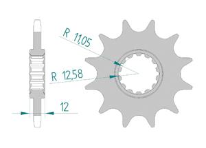 KIT STEEL GAS GAS EC 250 E4 2018 Standard Xs-ring