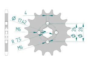 KIT STEEL HONDA MTX 50 Standard
