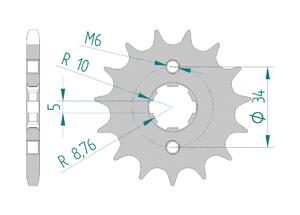 KIT STEEL HONDA C 90 Reinforced Xs-ring