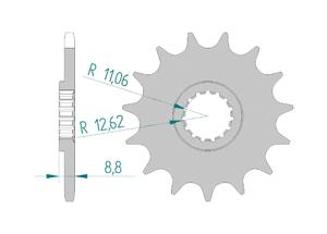 KIT STEEL HUSABERG TE 250 2011-2013 Super Reinforced Xs-ring