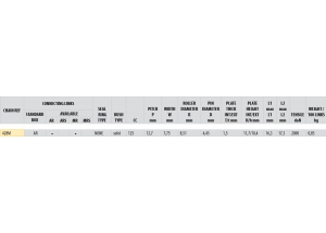 KIT STEEL HONDA CB 125 S 1976-1985 Standard