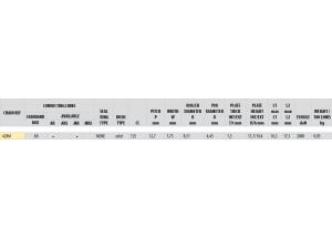 KIT STEEL HONDA CB 125 K5/JX 1975-1981 Standard