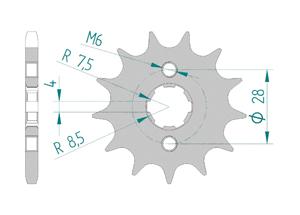 KIT STEEL HONDA CRF 125 2015 Reinforced