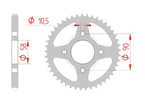 KIT STEEL HONDA CBF 150 2011-2012 Reinforced Xs-ring