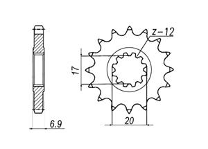 Kit PEUGEOT XPS50 SM [6 x Ø8.5]