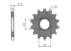 Kit APRILIA RS125 Extrema (15 PS) 92-05