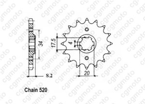 Front sprocket 250 Xlr Md11