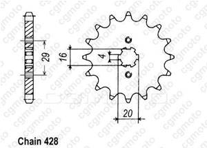 Front sprocket Ts 80 X 84-85