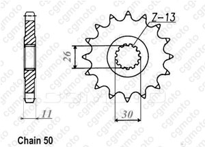 Front sprocket Rd 500 Lc 84-87