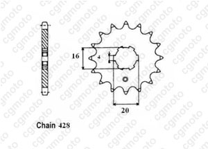 Front sprocket Rd 80 Lc2 83-85