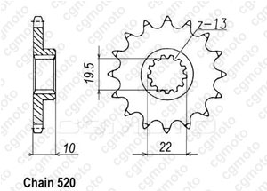 Front sprocket Ts 250 X 85-90