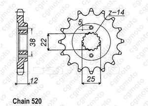 Front sprocket Ducati 750 Paso 86-90