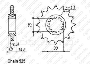 Front sprocket Cb 750 F2 Sevenfifty 92