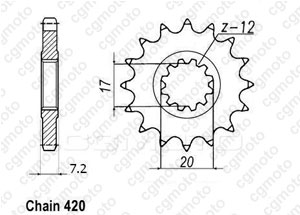 Front sprocket Minarelli 50 99-07 415
