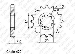 Front sprocket Minarelli 50 99-07 420
