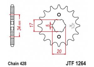 Front sprocket Kymco 125 Quannon