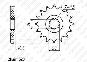 Front sprocket Racing Yzf R1 98-06