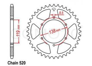 Rear sprocket Husaberg Enduro Z48