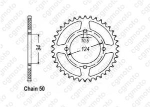 Rear sprocket 550 Cbf 75-80