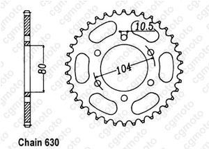 Rear sprocket Z 750 H/L/R 80-84