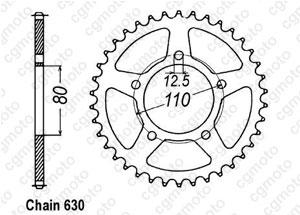 Rear sprocket Cbx 1000 Z 79-80