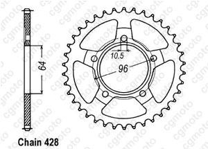 Rear sprocket Xl 125 R Prolink 82-8