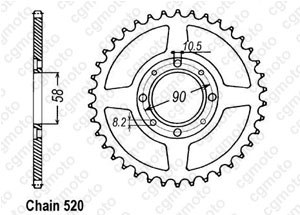 Rear sprocket Cm 250 Cc 82-85