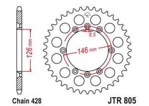 Rear sprocket Ts 125 X 84-88
