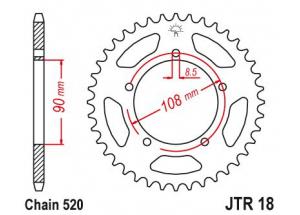 Rear sprocket Mz 660 Skorpion 95-02